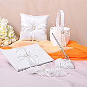 &quot;Eternity&quot; Wedding Collection Set in ivory Satin (5 Pieces)