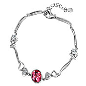 Elegant 925 Silver With Crystal Women's Bracelet