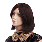 Capless Short Chestnut Brown High Quality Synthetic Hair Wigs