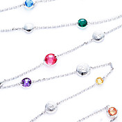 Fashion Alloy Plating 23K Gold With Cubic Zirconia Women's Necklace(More Colors)