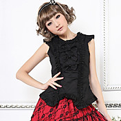 Sleeveless Cute Bow Cotton Casual Lolita Blouse with Bow(2 Colors)