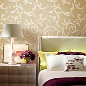 Klassisk Big Leaves Non-woven Wall Paper 1301-0020