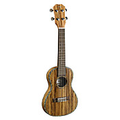 TOM - (TUC-300TN) Thin Body Laminated Zebra Concert Ukulele with Bag