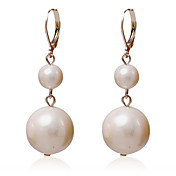 Elegant Alloy Round Pearl Earrings