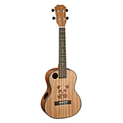 TOM - (TUT-260) Panda Sculpted Acoustic Sound Hole Mahogany Tenor Ukulele with Bag