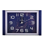 Plastic Square Analog Alarm Clock (Blue,1xAA))