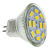 MR11 6W 12x5730SMD 550-570LM 2700-3000K luz branca quente Lmpada LED Spot (12V)