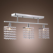 Lmpara Chandelier Geomtrica de Cristal con 3 Bombillas - CHELAN