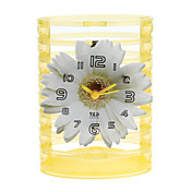 "5 ""Daisy Style Potlood Vaas Analoge Alarm Clock (1xButton batterij)"