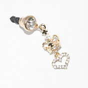 Crown 3.5 MM Zircon Anti-dust Earphone Jack for iPhone and iPad