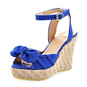 Cloth Wedge Heel Sandals With Buckle Party / Evening Shoes (More Colors)