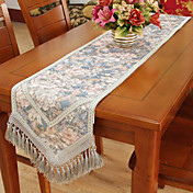 Country Print Floral Polyester Cotton Blend Table Runners