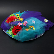 Satin / Lace With Flower / Cow Vetch Wedding/ Partying/ Honeymoon Hat