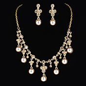 Gorgeous Alloy With Rhinestone / Imitation Pearl Women's Jewelry Set Including Necklace,Earrings