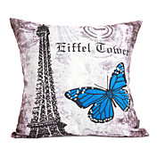 Conjunto de 2 Arquitetura capa de algodo Vintage Pillow decorativa