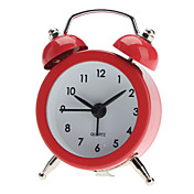 "5"" Round Twin Bells Mini Desktop Analog Alarm Clock (1xButton Battery, Assorted Colors)"