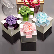 Sweet Cuboid Metal Favor Tin With Flowers - Set of 6 (More Colors)