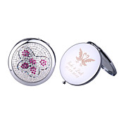 Personalized Chrome Mirror Favor With Rhinestone Butterfly