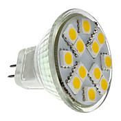MR11 1.5W 12x5050SMD 140-160lm 2700-3000K Warm White Light LED Spot Lampe (12V)
