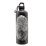 LINGLUZHE esterna in alluminio Finger Mark Bottle (nero)
