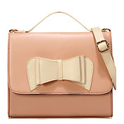 CANIFIER Bow Lapel Closure Crossbody(Pink)