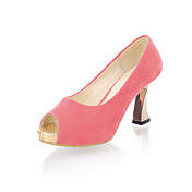 Camurça salto gatinho Peep Toe partido / Evening Shoes (mais cores)