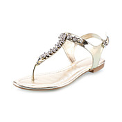 Patent Leather Flat Heel Sandals With Rhinestone Party / Evening Shoes (More Colors)