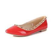 Gorgeous Leatherette Flat Heel Loafers &amp; Flip-Ons With Rivet Party/Evening Shoes (More Colors)