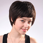 Capless Short Black Curly Mixed Hair Wigs