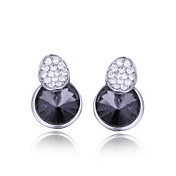 Unique Platinum Plated Round Crystal Earrings(More Colors)