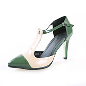 Leatherette Stiletto Heel Sandals With Split Joint Party / Evening Shoes (More Colors)