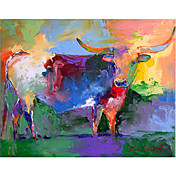 Printed Art Animal Bull by Richard Wallich
