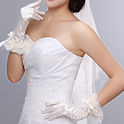 Nice Satin Fingertips Elbow Length Wedding Gloves