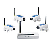 2.4GHz Digital Wireless Security Kit with 4 Cameras(Network Remote Monitoring)