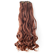 High Quality Synthetic 45cm Clip-In Wavy Hair Extension 6 Colors to Choose
