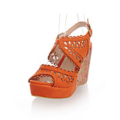 Leatherette Wedge Heel Sandals With Hollow-out Party / Evening Shoes (More Colors)