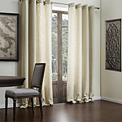 (Two Panels) Faux Linen Classic Solid Eco-friendly Curtains