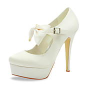 Gorgeous Satin Stiletto Heel Pumps With Buckle / Bowknot Wedding Shoes (More Colors)