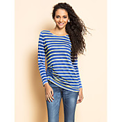 TS Stripes Jersey Blouse froncée