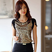Women's Chiffon Sleeve Sequined T-Shirt