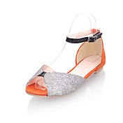 Leatherette Low Heel Peep Toe With Sequin Party / Evening Shoes (More Colors)