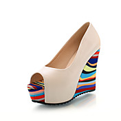 Leatherette Wedge Heel Sandals With Split Joint Party / Evening Shoes (More Colors)