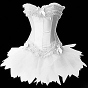 Gorgeous Color Satin Princess Lolita Corset With Lace