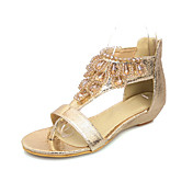 Beautiful Leatherette Wedge Heel Sandals With Beading Party / Evening Shoes (More Colors)