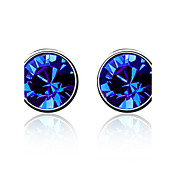 Charming Round Crystal Stud Earrings(More Colors)