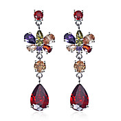 Quality Platinum Plated Cubic Zirconia Earrings(More Colors)