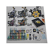 5 Cast Iron Tattoo Gun Kit for Lining and Shading(54 5ml Colors Included)