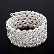 udsgt damer 'Rhinestone Strand / tennis armbnd i hvid perle
