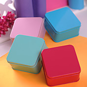 Simple Cuboid Metal Favor Tin - Set of 6 (More Colors)