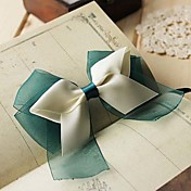 Women's Sweet Light Green Bow Handmade Silk Hair Tie